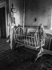 the crib will be silent today...(american hero house) (Aces & Eights Photography) Tags: abandoned abandonment decay ruraldecay oldhouse abandonedhouse