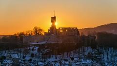 Burgruine Königstein, Doppelsonne (Frawolf77) Tags: königstein ruine burg castle sunset doublesun
