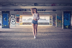 DSC_4700a (Catharsis_Face2Face) Tags: polishgirl polishbeauty photosession session girl polish model polishmodel photomodel outdoorsession abadoned sunset summersunset wroclaw streetwear streetstyle shorts jeansshorts whitetop longhair hairstyle makeup teenagergirl fashion naturalbeauty nikon nikonphotography d5300 grafiti urbanstyle