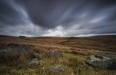 The bleak moor (Through-my-eyes.) Tags: blacktor dartmoor moorland landscape rock rocks granite grass cloud clouds olympus em5 longexposure bleak bleakness dartmoornationalpark devon sky