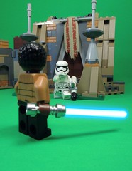 Traitor! (MrKjito) Tags: lego minifig star wars the force awakens ep 7 finn storm trooper traitor lightsaber