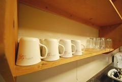 Cabin 9 kitchen cups glasses First Landing State Park (vastateparksstaff) Tags: cabin cinderblock 2bedroomcabin