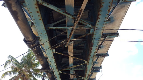 Underside of the old 7 Mile Bridge
