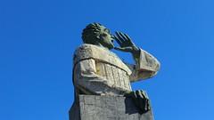 Dominican-Republic - Santo Domingo: Christopher Columbus statue @ harbor (Traveller-Reini) Tags: columbus colonstatue dominicanrepublic domrep santodomingo centralamerica island insel caribbean karibik weltwunder weltstadt hauptstadt capital statue sculpture skulptur