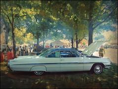 Bonneville (novice09) Tags: backtothefifties carshow pontiac 1961 whitewalls dreamscope ipiccy texture