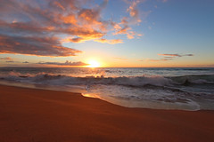 Polihale State Park Sunset (russ david) Tags: polihale state park sunset kauai hawaii hi september 2016 beach pacific ocean waves ハワイ 風景