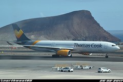 OY-VKH (northwest85) Tags: thomas cook airlines scandinavia dk vkg airbus a330343 oyvkh taxiing gate tenerife south tfs gcts
