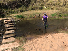 Creek Crossing (Patricia Woods) Tags: shop mtn mountainbiking brisbanevalley lowood countrytown coominya brisbanevalleyrailtrail bvrt