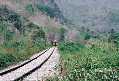 Thailand - Burma Railway - The extension (railasia) Tags: 2004 thailand infra kanchanaburi alignment srt dmu burmarailway photographyby metergauge thasao