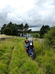 Byways in Northumberland, August 2015 (Bryn Pinzgauer) Tags: summer england sky green bike rural landscape countryside ktm adventure motorbike trail northumberland lane motorcycle 990 byway