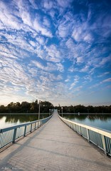 Rowing canal Plovdiv (Milcho Katsarski) Tags: bridge trees sunset sky tree water clouds reflections canal row rowing dramaticsky dramaticclouds rowingcanal