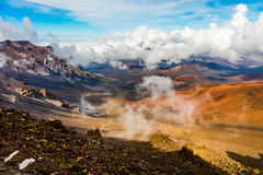 Haleakala Volcano, Maui - 21 (www.bazpics.com) Tags: park mountain rock landscape volcano hawaii lava us amazing scenery rocks unitedstates cone extreme maui national haleakala valley ash hi volcanic devastation cinder dormant cindercone kula devastated