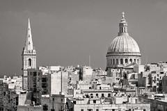 Malta; Valletta (drasphotography) Tags: travel blackandwhite bw church monochrome architecture nikon kirche monotone monochromatic malta architektur sw schwarzweiss bianconero reise valletta travelphotography reisefotografie schwarzweis d7k nikond7000 drasphotography