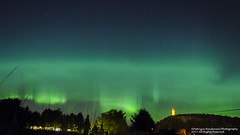 Aurora over Wallace Monument