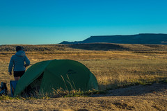 Camping out in the Great Divide Basin.