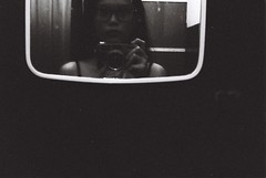 000048 (Lee Sydney) Tags: bw white house selfportrait black film girl night 35mm canon asian photography hotel mirror blackwhite inn first malaysia roll penang guest canonet selfie filmisnotdead q17