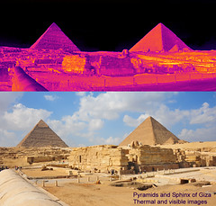 Pyramids and Sphinx thermal and visible (Ultrapurple) Tags: hot cold scale sphinx grey weird cool warm experimental invisible egypt warmth experiment science heat infrared pyramids 8bit temperature thermal giza android nightvision lowres scientific falsecolor falsecolour imager thermalimage weirdscience thermalcamera thermogram thermograph thermographic thermalimager lwir uncooled thermapp microbolometer