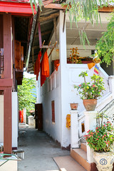 Sleeping quarters for monks in a buddhist temple, Luang Prabang, laos (travelingmipo) Tags: travel architecture temple photo asia southeastasia buddhist  laos  luangprabang   louangphrabang