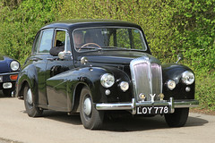 Daimler LOY 778 (BIKEPILOT) Tags: classic car vintage airport automobile rally transport vehicle popham daimler airfield aerodrome eghp aeroautojumbleclassicvehiclerallyflyin loy778
