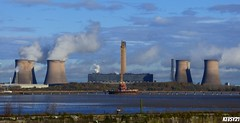 Fiddlers Ferry (kev thomas21) Tags: uk bridge england sky building water photography waterfront view crane photographers bluesky steam powerstation merseyside widnes