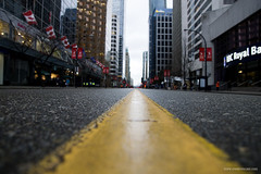 Where the streets have no... (Zorro1968) Tags: road street canada yellow vancouver photography paint downtown bc britishcolumbia empty georgiastreet