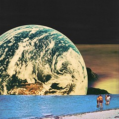 Distant beach (Mariano Peccinetti Collage Art) Tags: flowers art beach collage kids vintage 60s arte earth surrealism space dream surreal retro lsd collageart dreams planet 70s surrealist meditation trippy psychedelic psych cutandpaste dmt globular vintageart collageartist peccinetti collagealinfinito marianopeccinetti collageartcollagecollectiveco