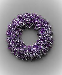 352/365 Tinsel Wreath - 365 Project 2015 (Helen) (dorsetbays) Tags: door silver festive purple decoration wreath tinsel dorset christmasdecoration 365 dorchester christmaswreath engalnd 365project aphotoadayforayear