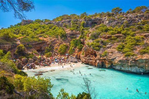 View of Calo des Moro, Mallorca (Spain)
