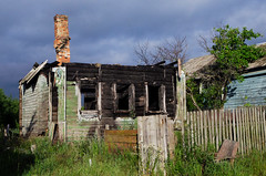 Burned-out house (YuTrof) Tags: burnedout russia accident architecture ash building burned charry chimney country destroy destruction extinguish grass home house loss old outdoors rural sky summer sunlight sunny traditional village wood wooden