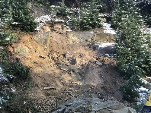 Christmas Eve rock removal northbound I-5 Whatcom County
