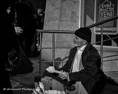 Street 235 (`ARroWCoLT) Tags: oldman monochrome street seller streetphotography blackwhite siyahbeyaz sb bw samsung sokak istanbul people woodenspoon spoon streetvendor üsküdar blackandwhite outdoor 17mm f18 nxmini arrowcolt sw black white situation streetlife menschen