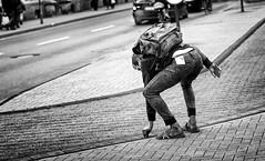Finders keepers. (Mister G.C.) Tags: street photography streetphotography blackandwhite bw monochrome urban candid photograph image shot people man guy unposed town city nikon d5300 dslr nikkor 50mm 50mmf18g prime lens mistergc schwarzweiss strassenfotografie niedersachsen lowersaxony germany deutschland europe