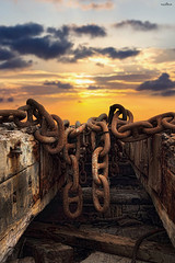 chains (dim.pagiantzas   photography) Tags: chains shipyard construction textures wood wooden metal iron nature sky sunset clouds cloudy rainy colors colorfull sea seascape water waterscape outdoor canon