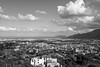 Palermo (petia.balabanova(tnx for +2 million views)) Tags: palermo sicily italy travel 2470mm nikond800 view city cityscape monochrome blackandwhite bw sky clouds houses sea mountain