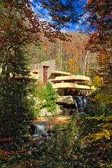 Fallingwater Landmark. (J. Pelz) Tags: landmark usa mood building waterfall fallingwater forest