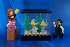 Dad's new fish tank (Lesgo LEGO Foto!) Tags: lego minifig minifigs minifigure minifigures collectible collectable legophotography omg toy toys legography fun love cute coolminifig collectibleminifigures collectableminifigure dad father fish fishtank tank son family