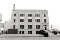Grady County Courthouse in Chickasha, Oklahoma (kevinellison62) Tags: artdeco building oldbuilding courthouse chickasha oklahoma architecture blackwhite gradycountycourthouse court judicialbuilding