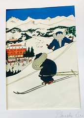 Babar on Skis - NYC (verplanck) Tags: winter skiing french nyc snow babar poster