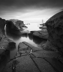 san diego : hospitals reef (William Dunigan) Tags: san diego southern california la jolla hospitals reef beach ocean sea long exposure black white monochrome photography motion blur water waves