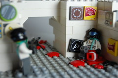I am hit! (my name is schimmi) Tags: lego war marines solider wapon wounded brickarms custom future