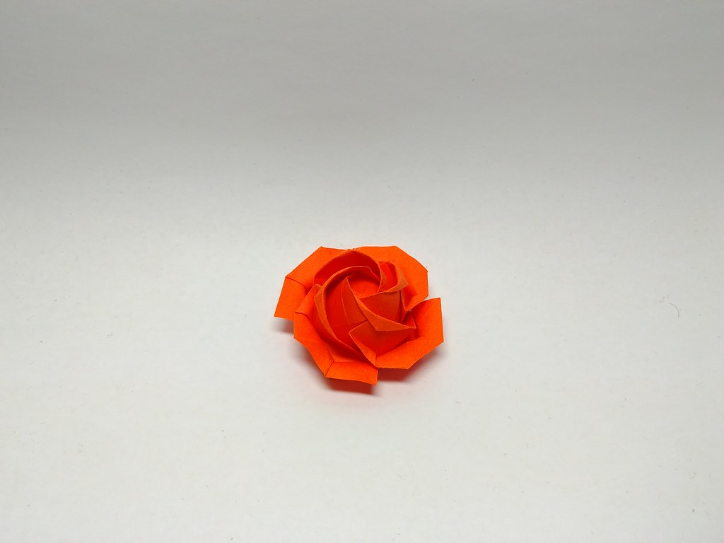 Paper Origami Rose | Vector Big Paper Flower Origami Rose Stock ... | 768x1024