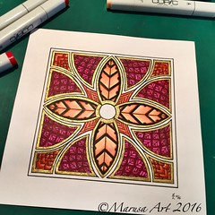 Square Mandala (marusaart) Tags: marusaart ornament zendala mandala doodle artist art