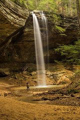 Ash Cave. (+Lonnie & Lou+) Tags: nature nisi sony landscape longexposure waterfall ohio selfie selfportrait forest usa travel explore water statepark trees creek