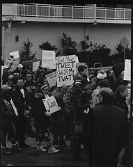 Get Your TWEET Out Of My TWAT (thereisnocat) Tags: pentax pentax67 165mm protest womensmarch womensmarchap asburypark monmouthcounty newjersey nj hp5