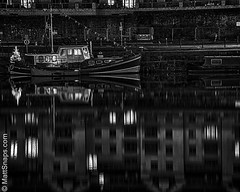The Boat (MattSnapsPhotography) Tags: ship water tree river craft bristol reflections bricks boat waterway quay harbour homes