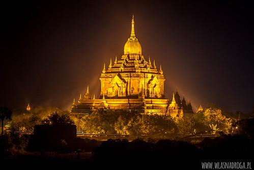 Bagan wieczorną porą