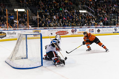 "Missouri Mavericks vs. Wichita Thunder, February 3, 2017, Silverstein Eye Centers Arena, Independence, Missouri.  Photo: John Howe / Howe Creative Photography • <a style=""font-size:0.8em;"" href=""http://www.flickr.com/photos/134016632@N02/32591248261/"" target=""_blank"">View on Flickr</a>"