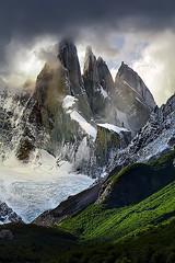 Cerro Torre, Patagonia (Andrea Loria) Tags: argentina chile patagonia forest foresta bosco montagna mountain peak rock roccia clouds cloudporn nuvole nebbia fog mist ice ghiaccio ghiacciaio glacier nature landscape