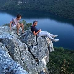 Hanging over Limski Canal (guido.menato) Tags: climbing rocks hrvatska croatia istria limskikanal canal kanal limski instagramapp square squareformat iphoneography