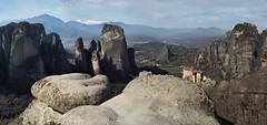 FG000539 Panorama (ladigue_99) Tags: meteora greece thessalia kastraki kalambaka greatmeteoron ιμμεγάλουμετεώρου roussanoumonastery ιμρουσάνου unesco unescoworldheritagesite